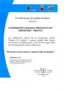 CertificazioneQualitaFamiliareEpicentro